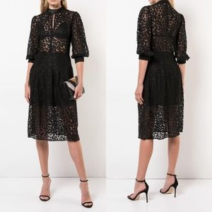 NWT Fleur Du Mal Black Leopard Lace Dress 2